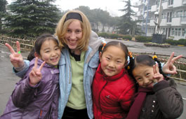 Making new friends in China