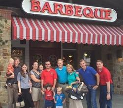 The assistant pastor took the team out to Texas barbeque.