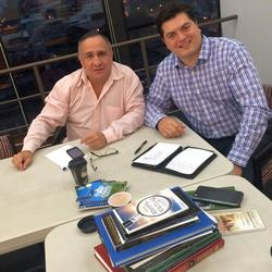 Meeting with a ministry leader in Costa Rica.
