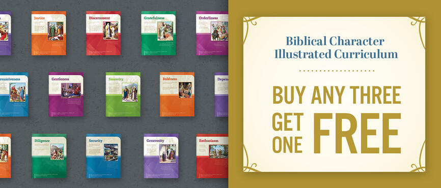 Buy 3, Get 1 Free character curriculum!