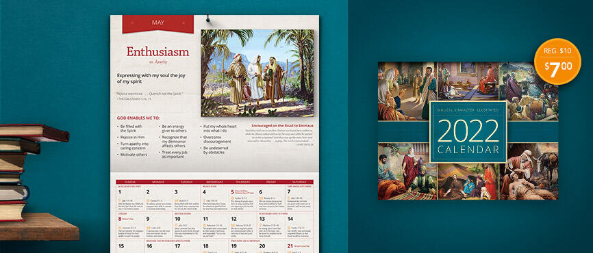 2022 Biblical Character Calendar is available now!